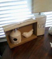 Rae Dunn HOME Birdhouse And FLY Bird Bank.Ceramic  **NEW** 2020 Release