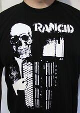 RANCID #1 Black&White SKULL T-SHIRT