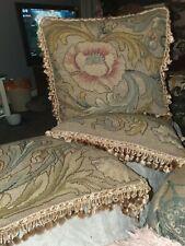 3 stunning original  art nouveau  needlework  cushions
