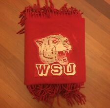 Vintage Pendleton Wool Washington State University Stadium Blanket Go WSU!