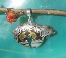 ciondolo orso orsetti Hals der indiana argento 925 placcato oro nero