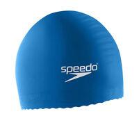 Speedo Solid Latex Swimming Swim Cap Blue, Unisex, Water UV Protection, Flexible