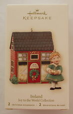 Hallmark 2007 Joy To The World IRELAND Irish House and Lass Christmas Ornament