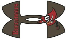 """Under Armour Tampa Bay Buccaneers Football Truck/Window Decal Sticker-11.5x 7"""""""