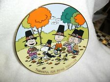 """Peanuts Magical Moments """"Thankful For Being Together"""" Danbury Mint 8"""" plate"""