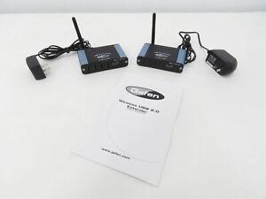 Gefen 4 Port USB 2.0 Wireless Extender Sender and Receiver with Power Supplies