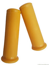 ukscooters VESPA QUALITY HAND GRIPS 22MM LIGHT YELLOW VBB VBA NEW