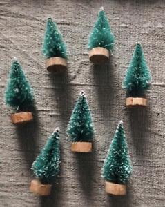 Set Of 7 Mini Christmas Trees 🎄green Trees
