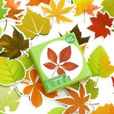 46 PCs/lot DIY Mini Paper Sticker Scrapbooking Various Leaves Diary