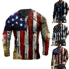 Polyester Tops Short Sleeve Sport T-Shirt Clothes Flag Printed Brand New