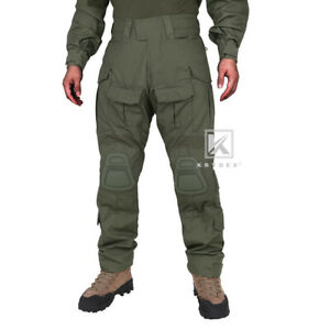 KRYDEX G3 Combat Trouser Tactical Pants w/ Knee Pads Army Clothing Ranger Green