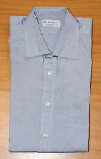 """Il negozio Camicia Denim Blu Camicia Button 15"""" pollici Collare eccellente co PRO STIRATO!"""