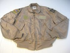 USAF Air Force 758 AS Summer Flight Flyers Jacket Tan CWU-36/P XL X-Large 46-48