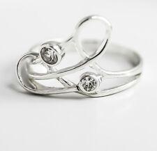 Echt 925 Sterling Silber Ring Damenring mit Zirkonia Steinen