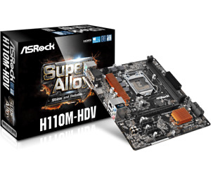 Asrock H110M-HDV /D3 Socket 1151 Motherboard for 7th and 6th Generation