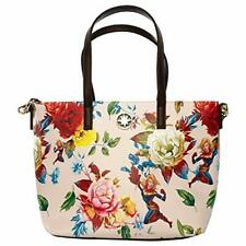 Loungefly Captain Marvel Floral Print Faux Leather Tote