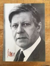 Helmut Schmidt Autogramm original signiert SPD Bundestag Rarität !!!