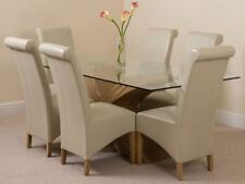 Wooden Up to 8 Seats 7 Pieces Table & Chair Sets