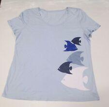 Nautica Women's Pajama Top, Ice Blue, X-Large