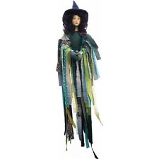 Witches of Pendle - Crystal Witch Flying (Green) 65cm