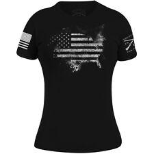 Grunt Estilo para Mujer de ácido Americano T-Shirt-Negro