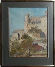 Alan James Middleton Ariba 1926-1998 firmada pintura al óleo Altafulla Castle, España