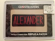 2016 GHOSTBUSTERS TRADING CARDS TOTALLY FABRICATED REPLICA PATCH ALEXANDER H8