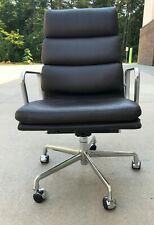 Herman Miller Eames Leather Soft Pad Executive Chair Aluminum Group (5 available