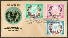 1969 Philippines UNICEF 15th Anniversary UNIVERSAL CHILDREN'S DAY FDC - B