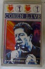 LEONARD COHEN - LIVE IN CONCERT - Musicassetta Sigillata MC K7