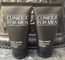 Lot of 2 Clinique For Men Face Wash Normal/Dry Travel 1.7 oz each ~ 3.4 oz Total