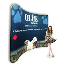 Pop-Up 10ft Curved Fabric Tension Booth Trade Show Display with Custom Graphic