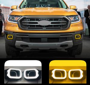Fit For Ford Ranger 2019-2021 LED Daytime Running Light Front Fog Light 2 Color