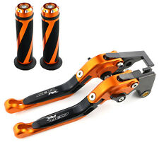 CNC Clutch Brake Levers and Grips For Honda CBR 125R 2004-2010 07 08 09 Orange