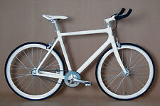 "STRADALLI FIXXX CARBON TRACK BIKE FIXIE FIXED GEAR BICYCLE MESSENGER 22"" XL 56CM"