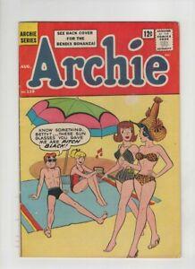 ARCHIE #139 Fine+, sexy bikini beach Harry Lucey cover & art, 1963, sweet copy