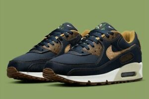 """Nike Air Max 90 Shoes """"Cork"""" Obsidian Blue Wheat DD0385-400 Men's New With Box"""
