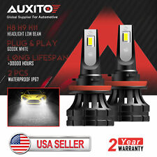 2X AUXITO H11 H8 H9 20000LM LED Headlight Low Beam Bulb 6000K 200W High Power