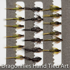 18 Olive & Black Nymphs Trout Fly Fishing Flies  -4 size options by Dragonflies