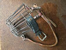 Vintage Leather & Metal Dog Animal Cage Muzzle Steampunk