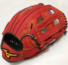 """MIZUNO Friendship 13"""" H Web RED/Black Right-Handed Throw Outfield Softball Glove"""