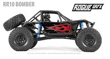 Axial RR10 Bomber Body Graphic Wrap Skin- Flames Red