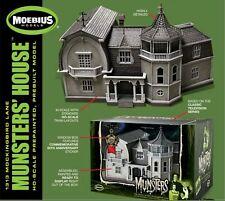 MOEBIUS MODELS PRE BUILT MUNSTERS HOUSE CASE FRESH!