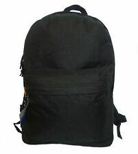 "Wholesale Case Lot 40 Black Basic 16"" Backpack School Bag Day pack Book bag"