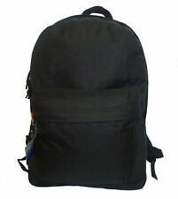 "Wholesale Case Lot 36 Black 18"" Basic Backpack School Day pack Book bag-LM183"