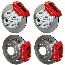 "WILWOOD DISC BRAKE KIT,69-70 IMPALA,BEL AIR,CAPRICE,11"" ROTORS,RED CALIPERS"