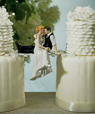 The Look of Love Romantic Couple Porcelain Wedding Cake Topper