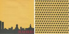 MADRID SPAIN country 1 sheet Scrapbook Paper double-sided Reminisce PSP039