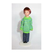 frecher junge 11 Cm Gross Puppe für Puppenhaus Miniatur 1 12
