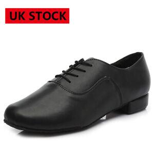 Men Leather Jazz Tango Modern Waltz Party Ballroom Latin Dance Salsa Shoes 39-45